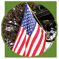 Sunny Acres B&B American flag